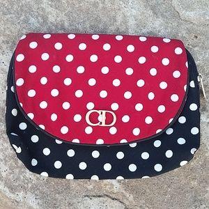RARE! Christian Dior Polka Dot Makeup Pouch Case